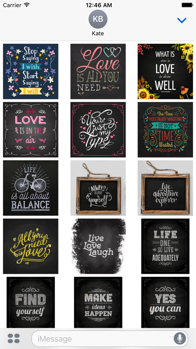 Chalkboard Quotes - Positive & Inspiration & Love screenshot 2