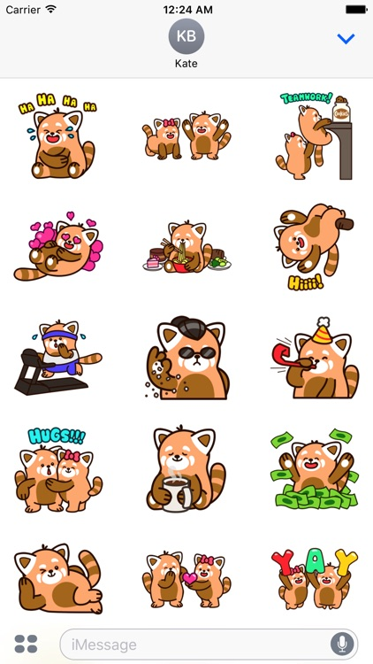 Cute Red Panda Stickers