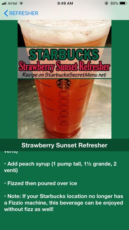 Recipes for Starbucks