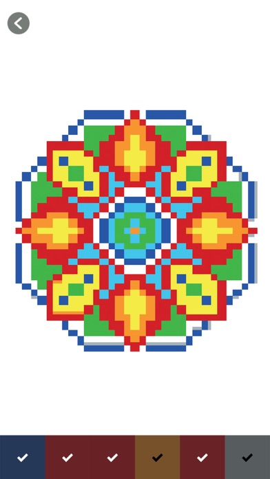 Color by number tattoo bloxels screenshot three