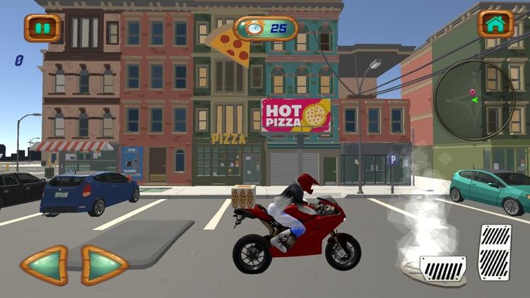 City Pizza Delivery Bike Rider