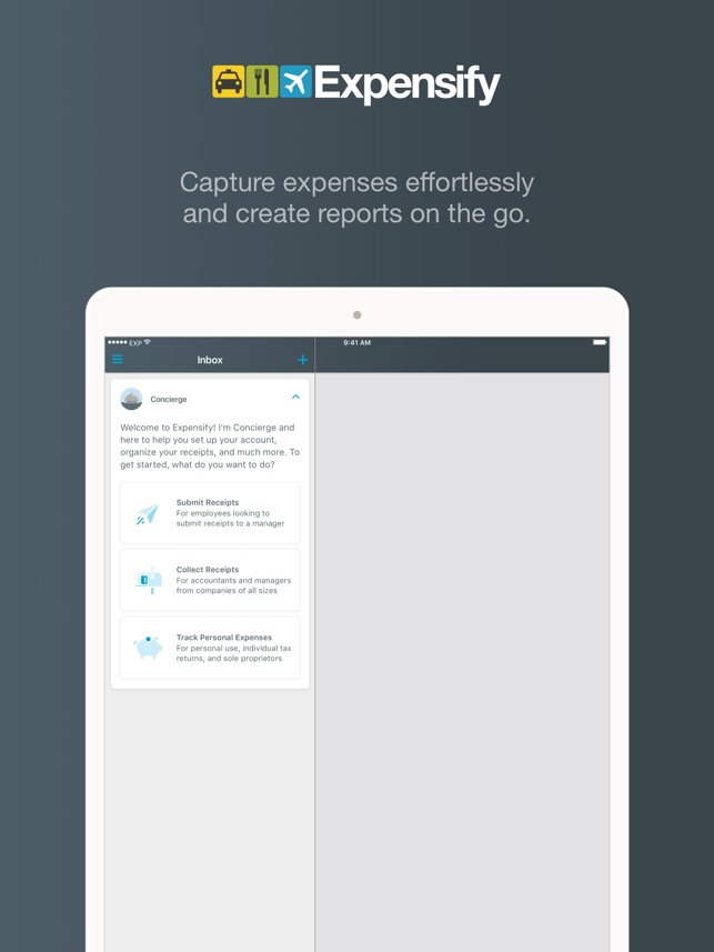 expensify receipts expenses をapp storeで