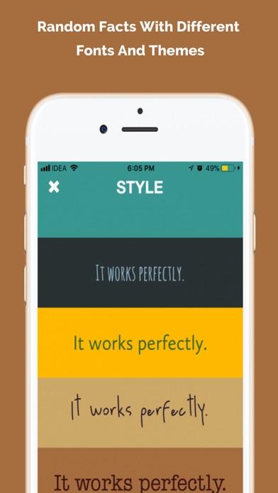 Infact - 毎日のランダムな事実 ScreenShot1