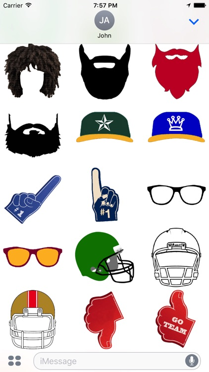 Dallas Football Sticker Pack Experience screenshot-3