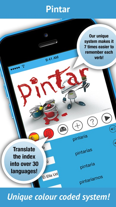 Spanish Verbs - LearnBots by iEdutainments (iOS, United Kingdom