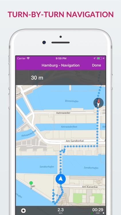 Hamburg Offline Map & Guide screenshot-3