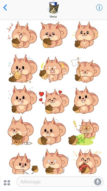 Kwipi Squirrel Love Acorn