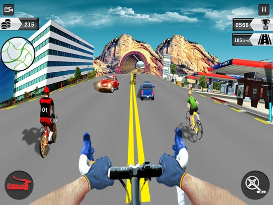 In Bicycle Racing on Highway screenshot 6