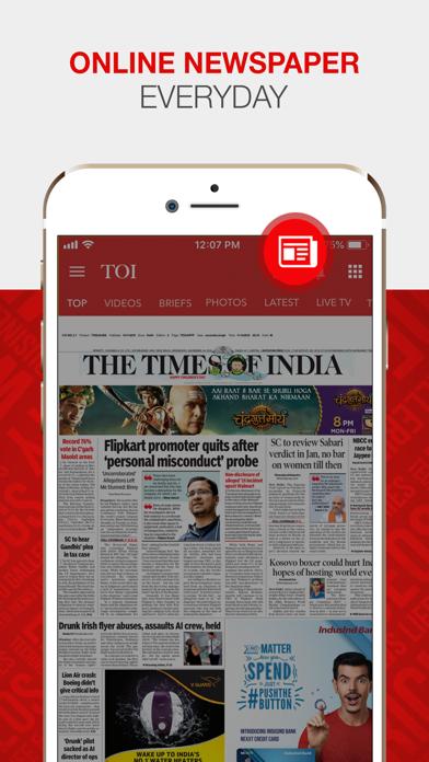 The Times of India Screenshot