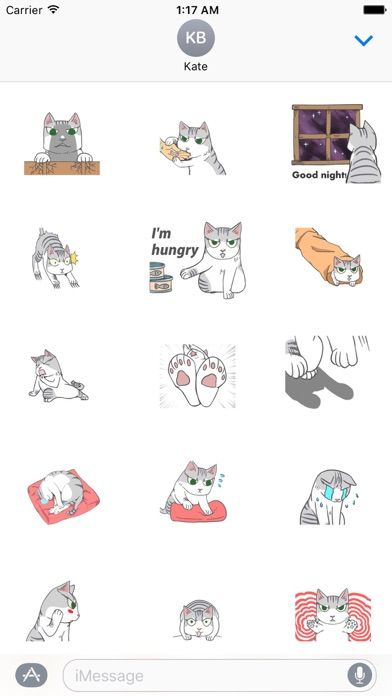 Animated Lonely Cat Stickers screenshot 1