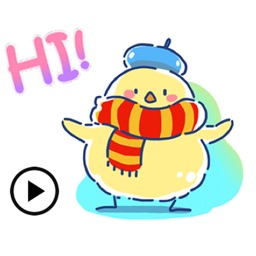 Animated Yellow Chick Sticker