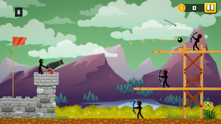 Stickman Cannon Shooter