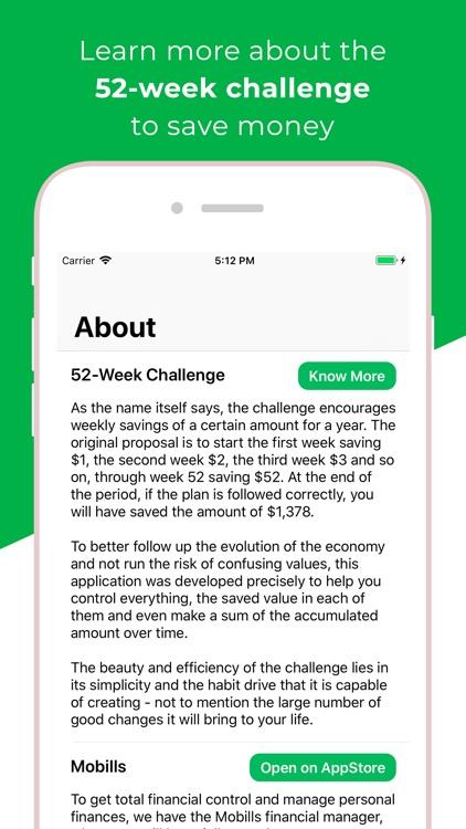 52 Week Challenge - Mobills screenshot-4