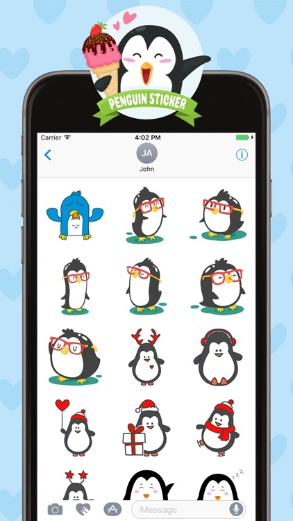 Penguin Stickers for iMessage screenshot-3