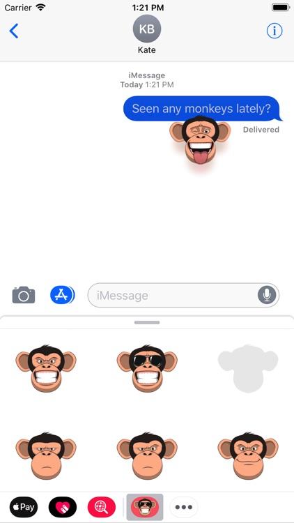 Fun Monkey Stickers