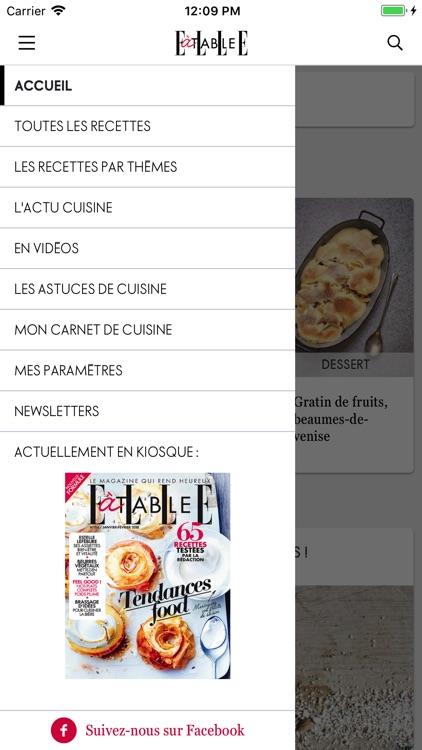 ELLE à table : idées recettes screenshot-4