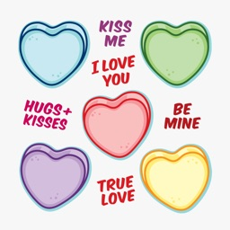 Candy Hearts Sticker