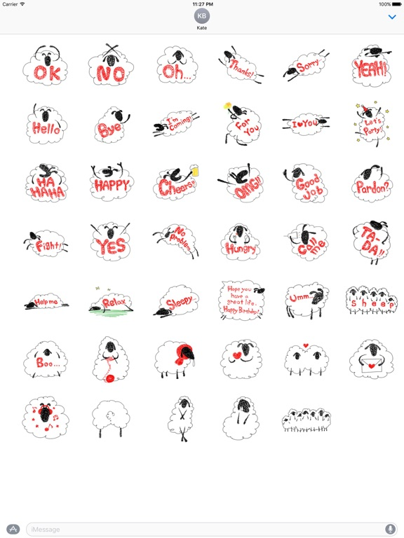 Lovely And Funny Sheep Sticker screenshot 4