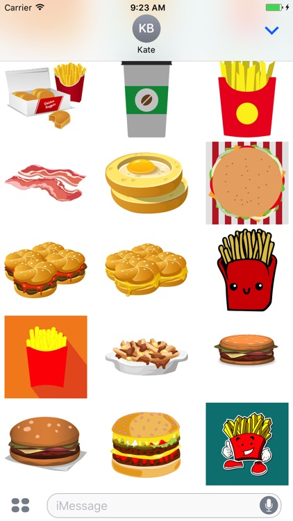 Fast Food Stickers: Tasty! screenshot-3