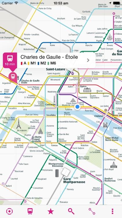 Paris Rail Map Lite By UrbanMap - Paris transit map