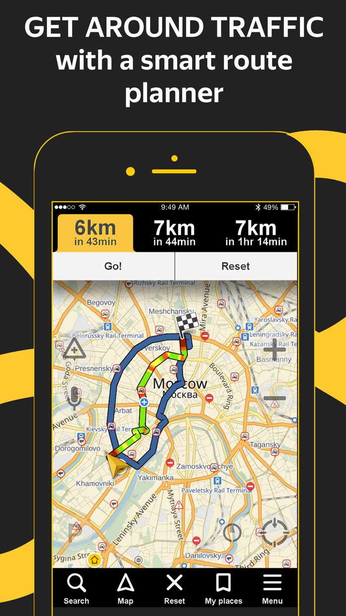 Yandex.Navi – navigation, maps Screenshot
