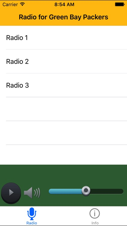 Radio for Packers