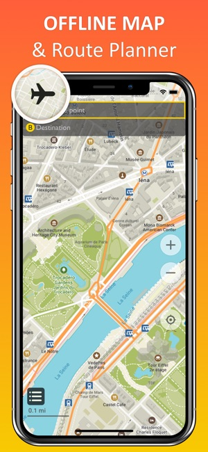 Paris Offline Map Nav On The App Store