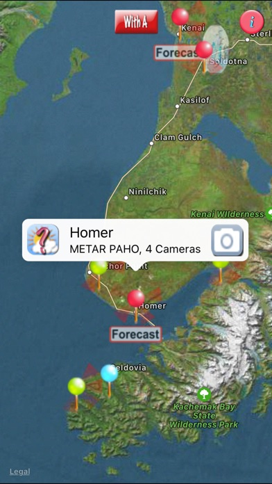Screenshot for AKAvCAMsLt- FAA weather camera in Russian Federation App Store