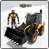 Snow Excavator Crane Rescue