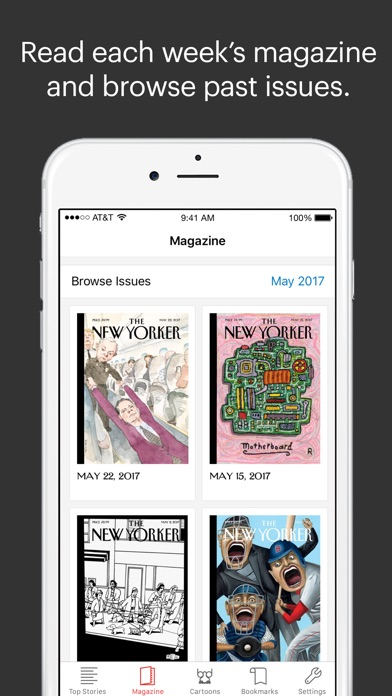 The New Yorker Today Screenshot on iOS
