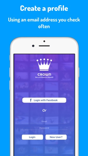 ‎Crown- Upload 20 Second Videos Screenshot