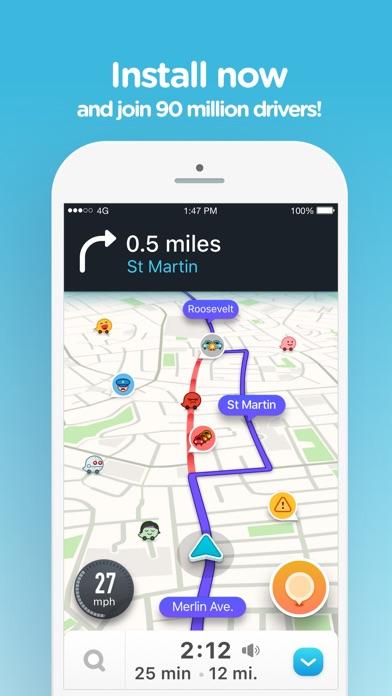 Screenshot for Waze: GPS och trafik i realtid in Sweden App Store