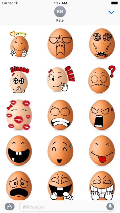 Love Of Eggs Eggmoji Sticker
