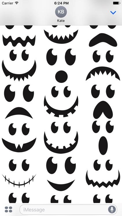 Halloween face simple emoji