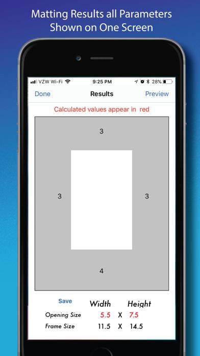 Matting Calculator review screenshots