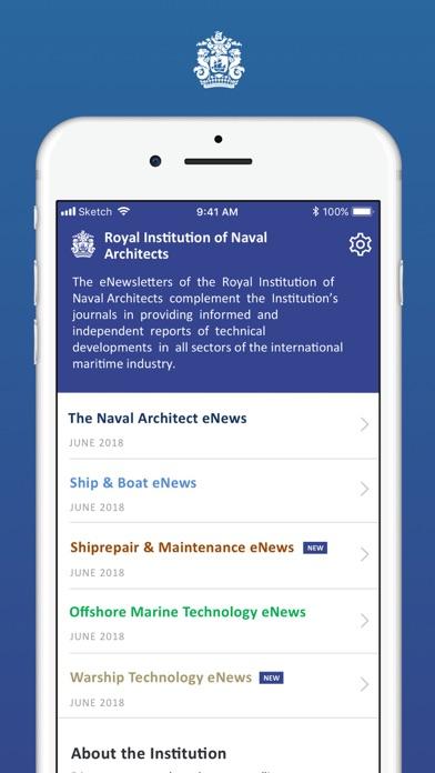 RINA eNewslettersScreenshot of 2