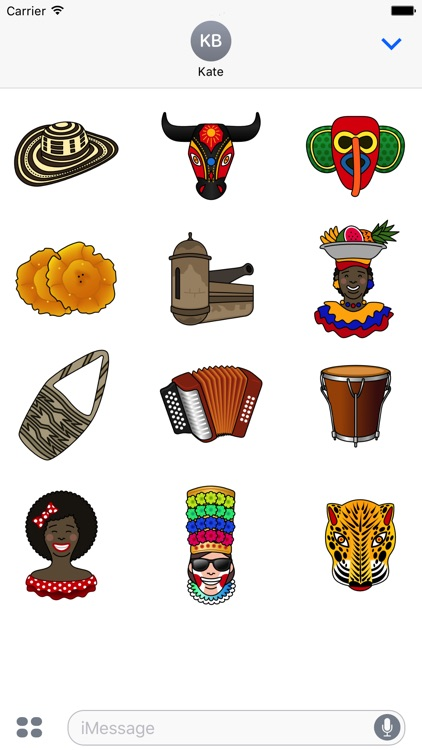 Caribe Colombia Stickers