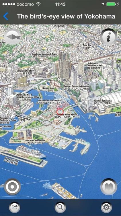 Bird's-eye view of Japan