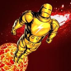 Activities of Iron Jump: superhero man