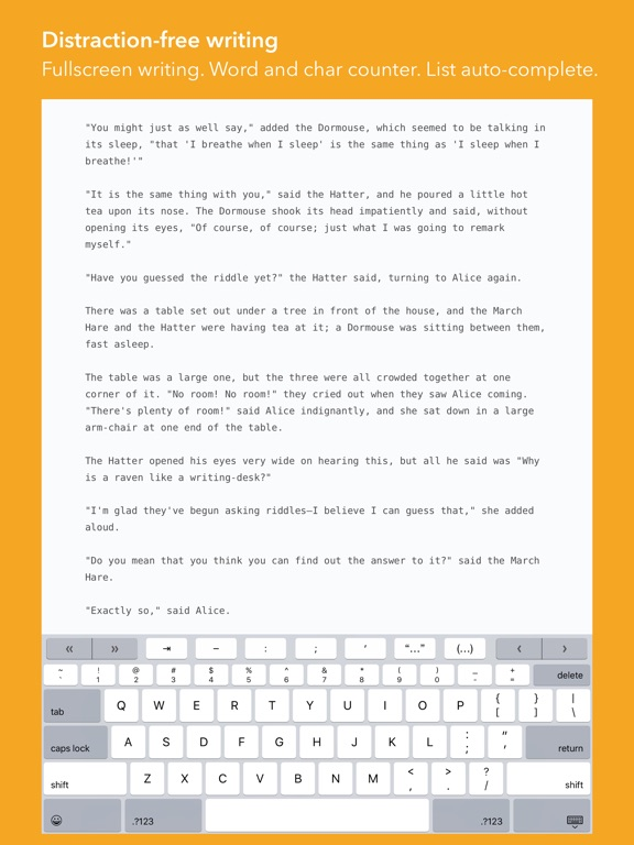 Screenshot #5 pour iWriter