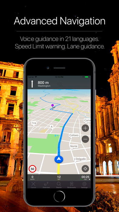 Havana, Cuba Navigation Screenshot