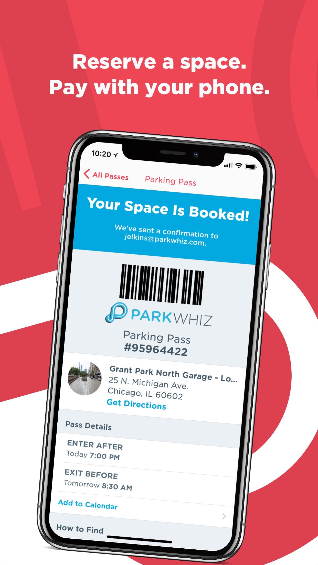 ParkWhiz - Find Parking Nearby Screenshot