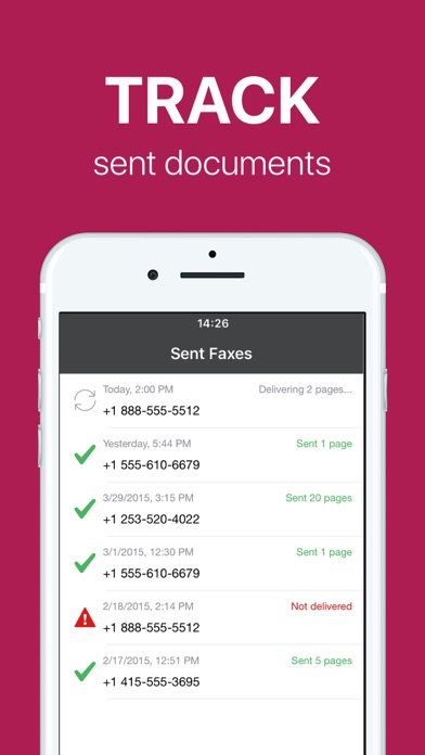 FAX app PRO: send fax from iPhone on the go Screenshot 5