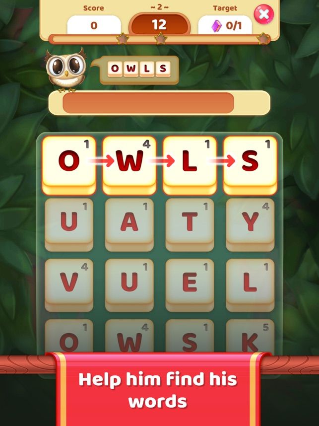 Owls and Vowels: Word Game on the App Store
