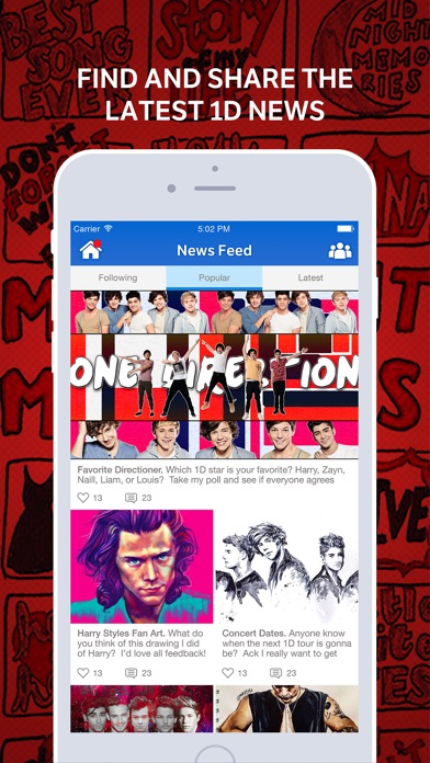 1D Amino for: One Direction Screenshot on iOS