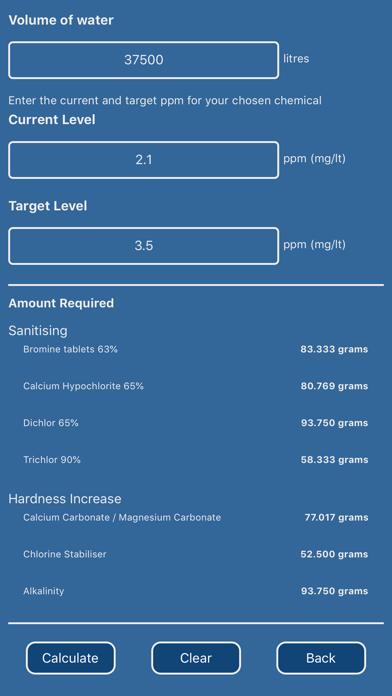 Pool Chemical & Volume Calc screenshot three