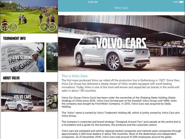 Volvo World Golf Challenge on the App Store