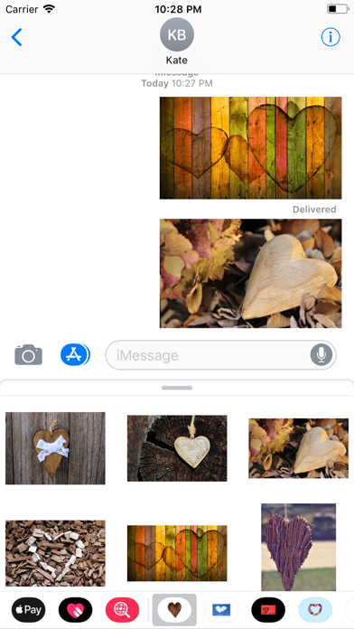Rustic Hearts Sticker Pack screenshot three