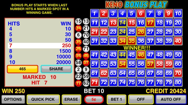 Keno Bonus Play screenshot-4