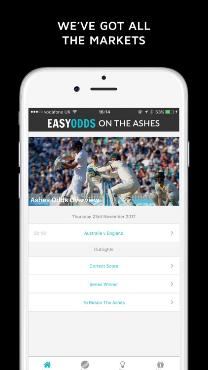 The Ashes Iphone App